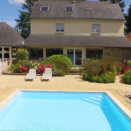 Jardin commun piscine